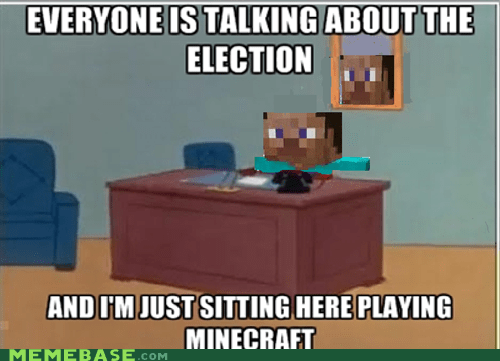 minecraft,meme,election,politics