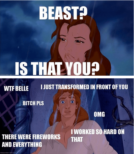 Beauty and the Beast,disney,Movie,funny