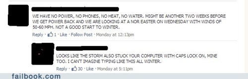 WINTER STORM EFFECTS