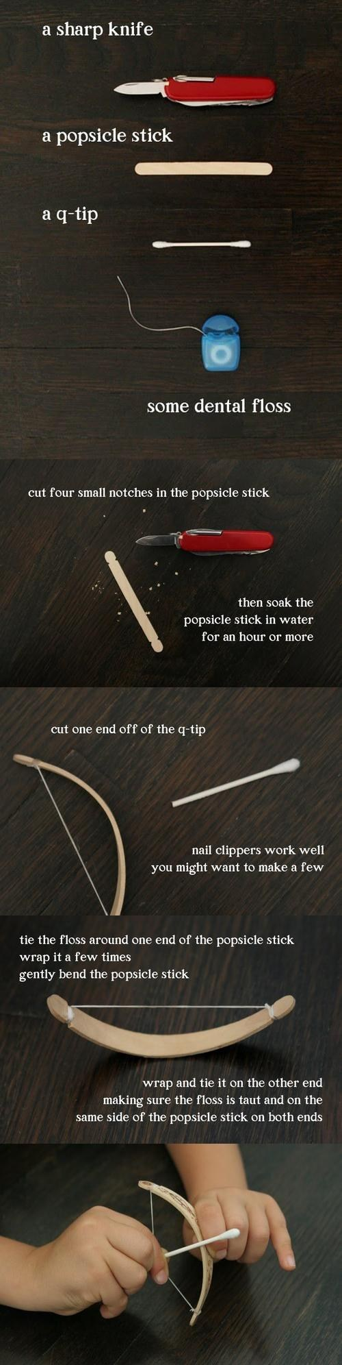 How to Make a Mini Bow & Arrow