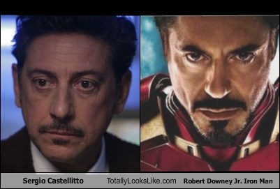 Sergio Castellitto Totally Looks Like Robert Downey, Jr. as Iron Man