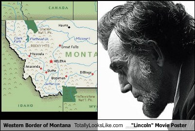 "Western Border of Montana Totally Looks Like ""Lincoln"" Movie Poster"
