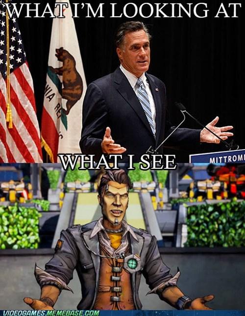 handsome jack,Mitt Romney,borderlands 2