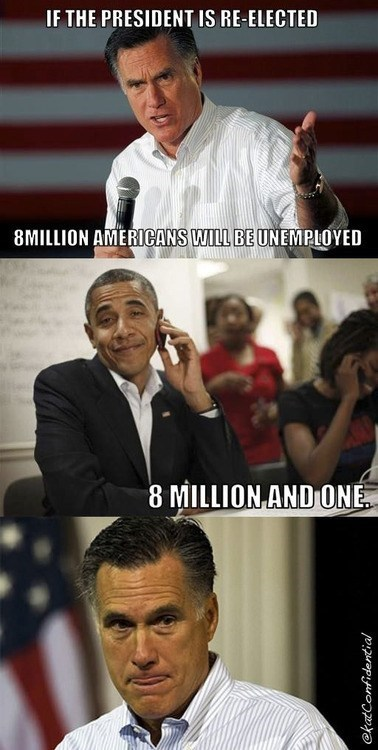 jobs,Mitt Romney,barack obama,election,smug,unemployed,correction