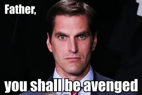 avenged,menacing Josh Romney,Josh Romney,meme,angry,election,Father