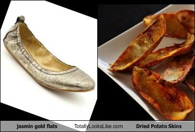 Jasmin Gold Flats Totally Looks Like Dried Potato Skins