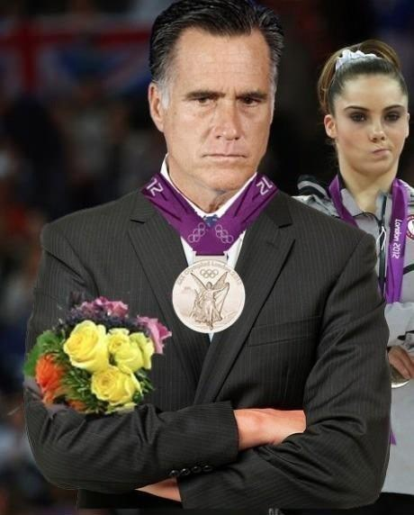mckayla maroney,silver medal,Mitt Romney,not impressed,election,second place