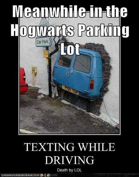Meanwhile in the Hogwarts Parking Lot