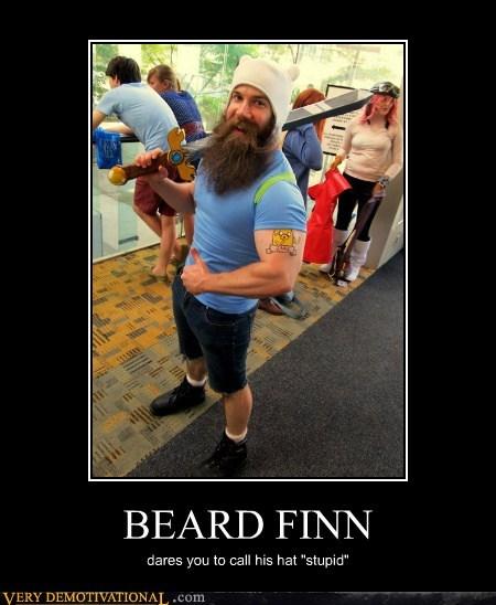 beard,finn,adventure time