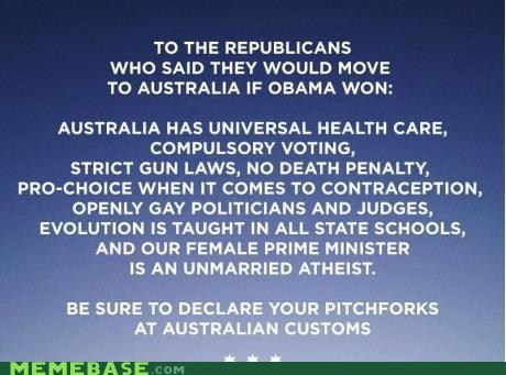 Republicans,rise up lights,mate,banana,australia,giant,same thing