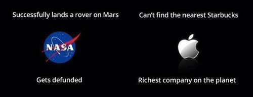 mars rover,nasa,Starbucks,hardly seems fair,apple maps