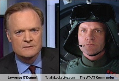 Lawrence O'Donnell Totally Looks Like The AT-AT Commander