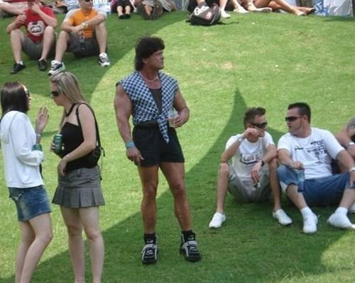 rambo,muscle dude,rock concert