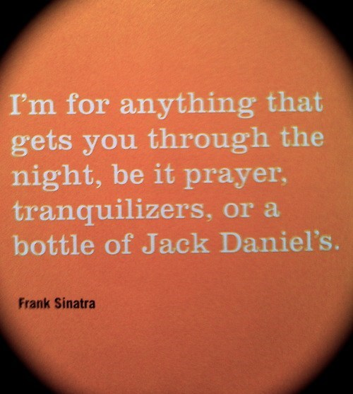 Frank Always Did Appreciate a Stiff Drink