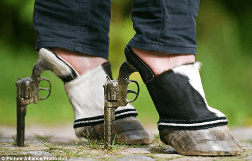 hooves,high heels,pistols