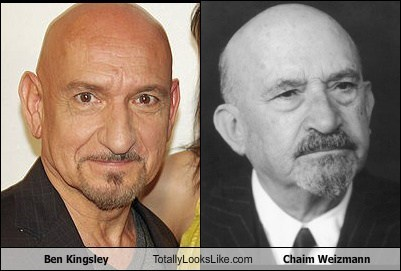 Ben Kingsley Totally Looks Like Chaim Weizmann