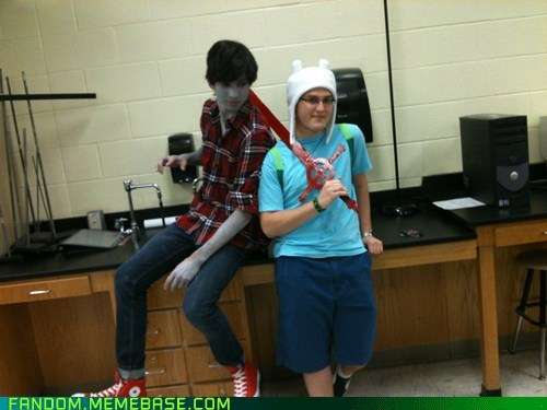marshall lee,cosplay,finn,adventure time
