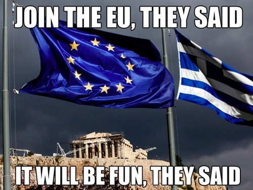 Greece Passes Austerity Bill for Bailout, EU Says Gotta Wait Some More