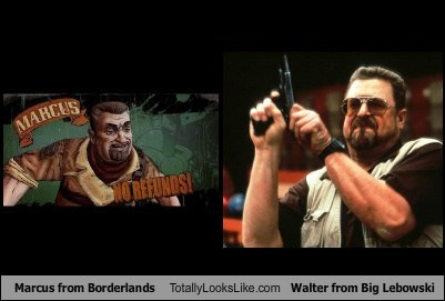 Marcus from Borderlands Totally Looks Like John Goodman (Walter from The Big Lebowski)
