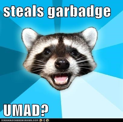steals garbadge  UMAD?