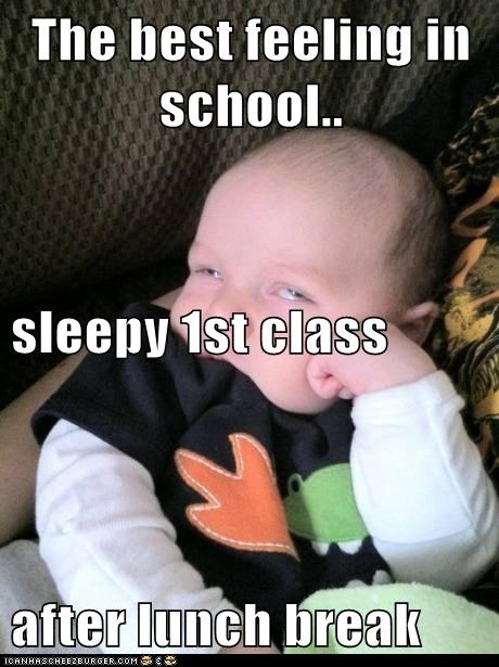 The best feeling in school.. sleepy 1st class after lunch break