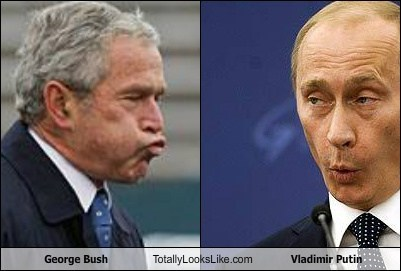 George Bush Totally Looks Like Vladimir Putin