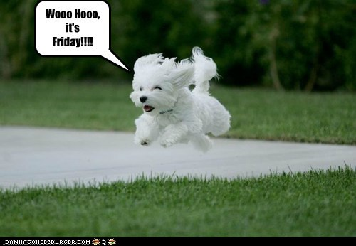 Wooo Hooo, it's  Friday!!!!