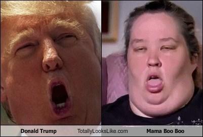 Donald Trump Totally Looks Like Mama Boo Boo
