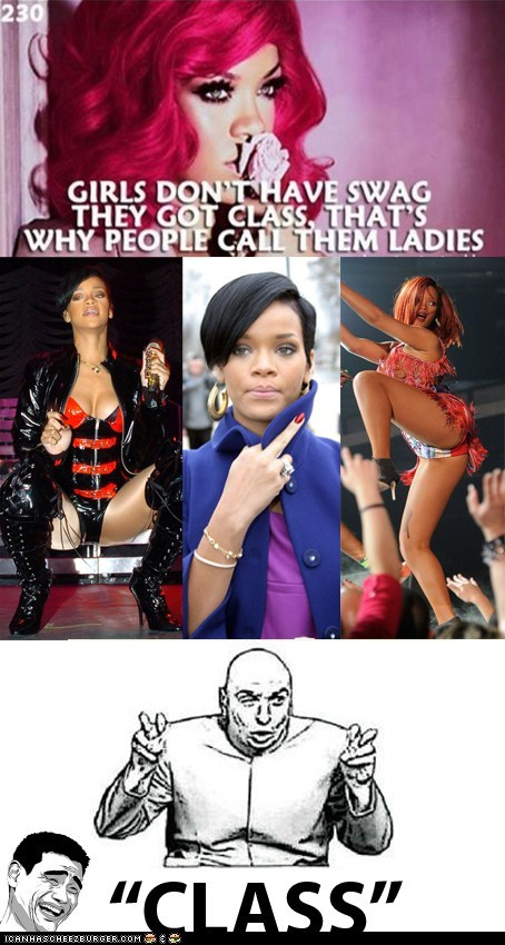 "Rihanna ""CLASS"" Dr. Evil meme"