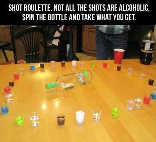 living on the edge,shot roulette,drinking games