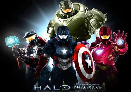 crossover,The Avengers,halo,Halo 4