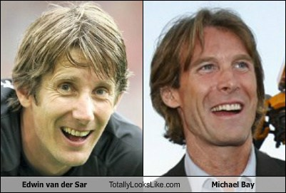 Edwin van der Sar Totally Looks Like Michael Bay