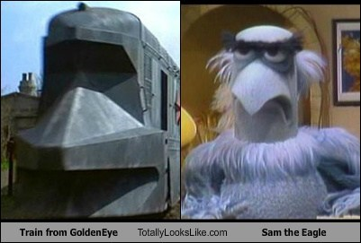 Train from GoldenEye Totally Looks Like Sam the Eagle