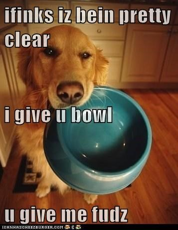 ifinks iz bein pretty clear i give u bowl u give me fudz