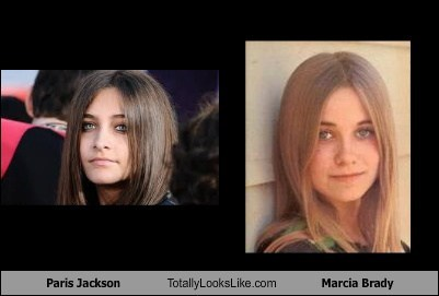 Paris Jackson Totally Looks Like Maureen McCormick (Marcia Brady)