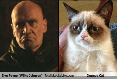 Ilyn Payne (Wilko Johnson) Totally Looks Like Grumpy Cat