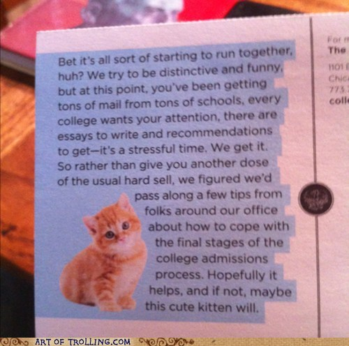 College Mail From the University of Chicago