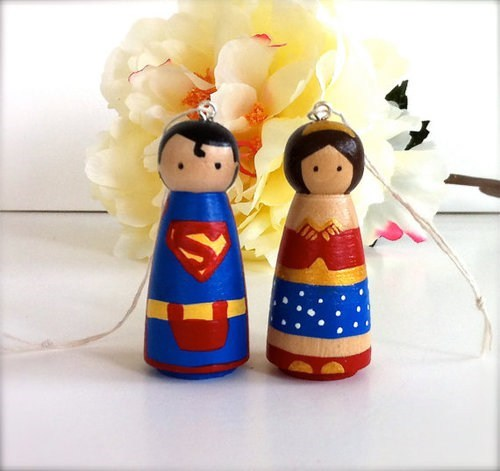 wonderwoman,ornaments,superman