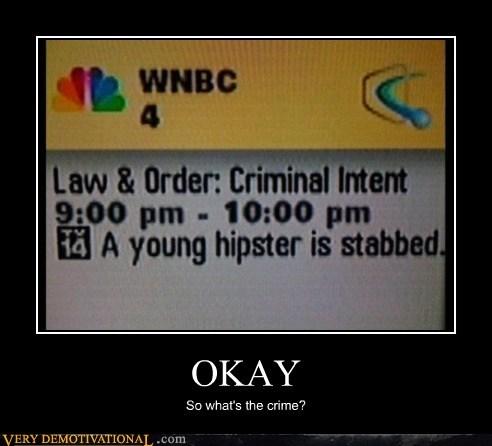 law & order,crime,hipster