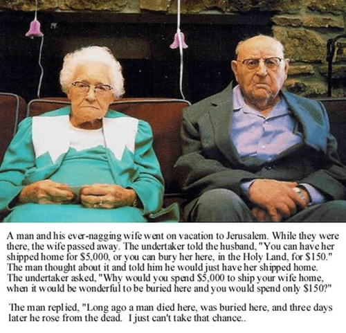 jesus,old couple,vacation