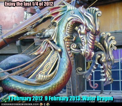 7 February 2012  9 February 2013: Water Dragon