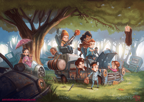 simon tam,Kaylee Frye,Inara,river tam,zoe washburne,kids,wash,fan art,jayne cobb,Firefly,shepard book,Browncoats,captain malcolm reynolds,playing