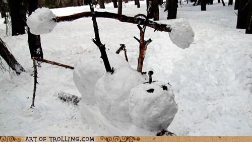 snow,IRL,snowmen
