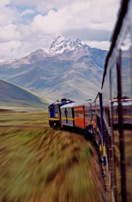 rails,Travel,mountain,train