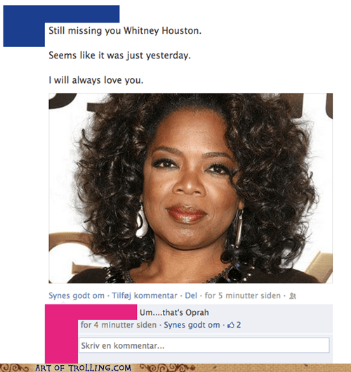 misquotes,Oprah Winfrey,facebook,whitney houston