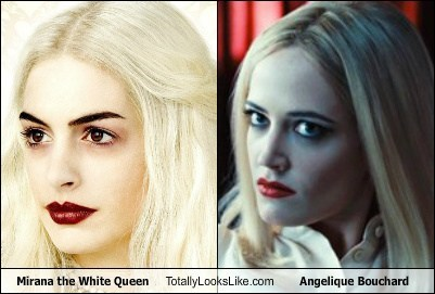 Anne Hathaway as Mirana the White Queen Totally Looks Like Eva Green as Angelique Bouchard