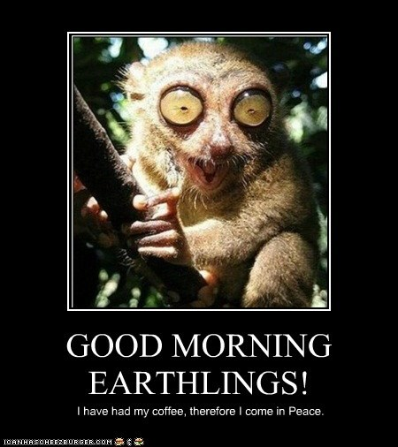 GOOD MORNING EARTHLINGS!