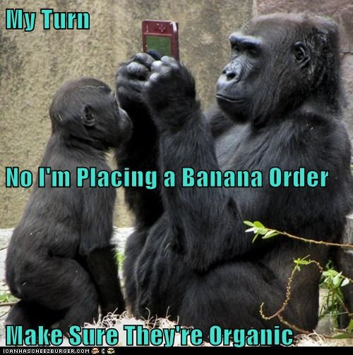 My Turn  No I'm Placing a Banana Order Make Sure They're Organic