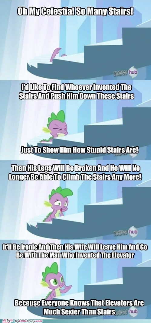 Spike Hate Stairs