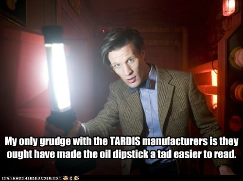 the doctor,oil,tardis,Matt Smith,dipstick,doctor who